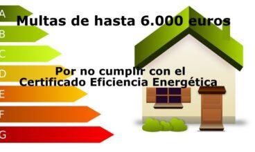 Sanciones o Multas en materia de Certificado Eficiencia Energética